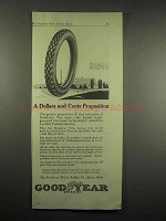 1917 Goodyear Tires Ad - Dollars and Cents Proposition