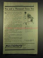 1917 Multigraph Ad - You and a Thousand Times You