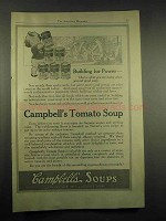 1917 Campbell's Tomato Soup Ad - Building for Power