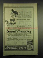 1917 Campbell's Tomato Soup Ad - Cut Down Troubles