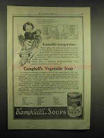 1917 Campbell's Vegetable Soup Ad - Inaugeration