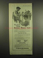 1917 Quaker Puffed Wheat, Rice Cereal Ad - Boys Get