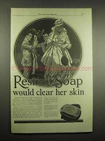 1917 Resinol Soap Ad - Would Clear Her Skin