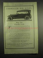1917 Chandler Six Car Ad - Why The Chandler Leads