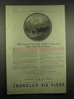 1917 Chandler Six Car Ad - Because of Marvelous Motor