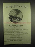 1917 Chandler Six Car Ad - Checks With High-Priced Cars