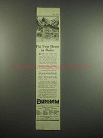 1917 Dunham Vapor Heating System Ad - In Order
