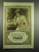 1917 Coca-Cola Soda Ad - The Drink Of All the Year