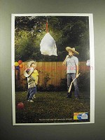 2005 Glad ForceFlex Trash Bag Ad - Stretchable Strength