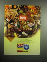 2000 Glad Tall Kitchen Odor Shield Trash Bag Ad