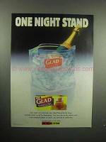 2000 Glad Stand & Zip Bag Ad - One Night Stand