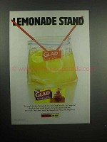2000 Glad Stand & Zip Bag Ad - Lemonade Stand