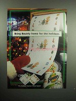 2000 Bounty Paper Towels Ad - Home for the Holidays
