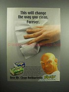 2000 Mr. Clean Antibacterial Wipe-ups Ad - Change