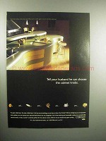 2000 Corian Countertop Ad - Husband Can Choose Knobs