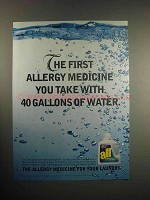 1999 All Laundry Detergent Ad - Allergy Medicine