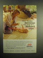 1999 Mohawk Carpet Ad - Cozy Sunday Mornings