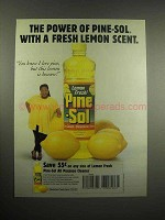 1997 Lemon Fresh Pine-Sol Cleaner Ad - The Power