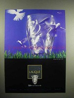 1997 Lalique Vase Ad - Where Art Comes To Life