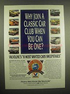 1993 Valvoline Oil Ad - Why Join A Classic Car Club?