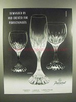 1989 Baccarat Massena Crystal Ad - For Perfectionists