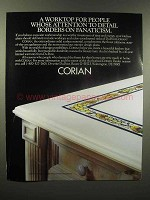 1989 DuPont Corian Counter Ad - Borders on Fanaticism