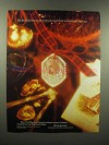 1989 Waterford Crystal Christmas Ornament Ad