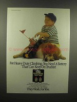 1989 Eveready Super Heavy Duty Batter Ad - Keep Truckin