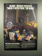 1989 Black & Decker Tools Advertisement - Build it With Pride