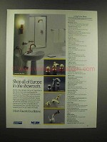 1988 Moen Faucet Ad - Luxembourg Red, Venice Gold
