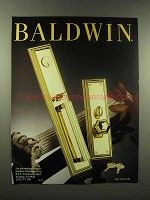 1988 Baldwin Hardware Ad - Door knob, Locks
