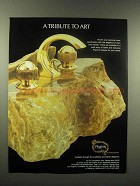 1988 Phylrich Faucet Ad - A Tribute to Art
