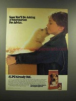 1988 Alpo Puppy Food Ad - Asking Veterinarian Advice