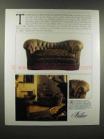 1988 Baker Furniture Ad - Traditional Upholstery