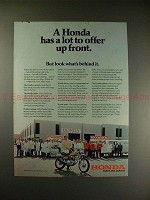 1972 Honda 350 Motorcycle Ad - A Lot to Offer Up Front!