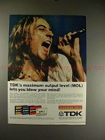 1973 TDK Cassette Tape Ad, with Ian Lloyd of Stories!!
