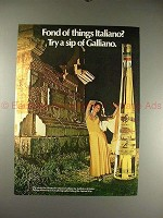 1973 Galliano Ad w/ Greta Vayan - Fond of Italiano?!