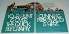 1973 Audi Fox Car Ad - Quick, Sly, Crafty, Cunning Fox!