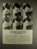 1975 Sears Tricot Ah-h Bra Ad, From 32B to 42DD it Fits