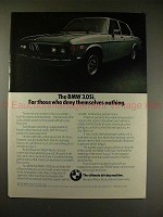1975 BMW 3.0Si Car Ad - For Those Who Deny Nothing!!