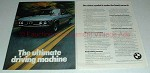 1975 BMW 3.0Si Car Ad - The Ultimate Driving Machine!