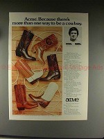 1976 Acme Boots Ad w/ Walt Garrison - To Be A Cowboy!!