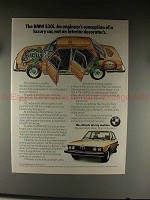 1976 BMW 530i Car Ad - Engineer's Conception of Luxury!