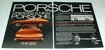 1976 2-page Porsche 924 Car Ad - Creates a New Porsche!