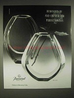1988 Baccarat Neptune Crystal Ad - For Perfectionists