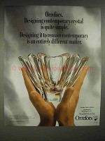 1988 Orrefors Crystal Bowl Ad - Quite Simple