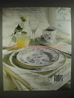1988 Wedgwood Ashbury China, Waterford Clara Crystal Ad