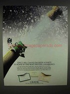 1988 Crane Paper Ad - Most Festive Gatherings