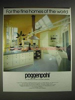 1987 Poggenpohl Cabinetry Ad - Fine Homes of the World