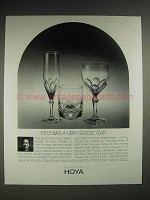 1987 Hoya Aurora Drinkware Crystal Ad - A Good Year